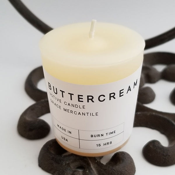 Wholesale Votives Buttercream Candle Grace Mercantile