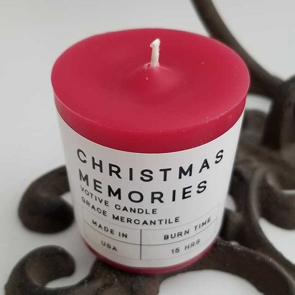 Christmas Memories Votive Candles - Grace Mercantile