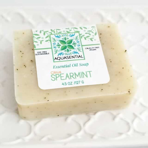 Aquasential Citrus Spearmint Soap - Wholesale by Dallas Soap Company