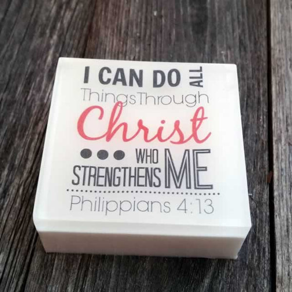 "Philippians 4:13 ""I Can Do All Things"" Soap - 4 pack"