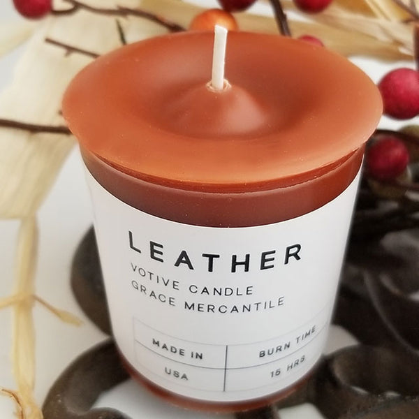 Leather Candle Wholesale Votives Grace Mercantile