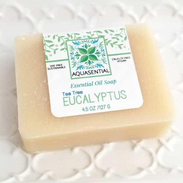 Tea Tree Eucalyptus Essential Oil Soap - AQUASENTIAL by Dallas Soap Company