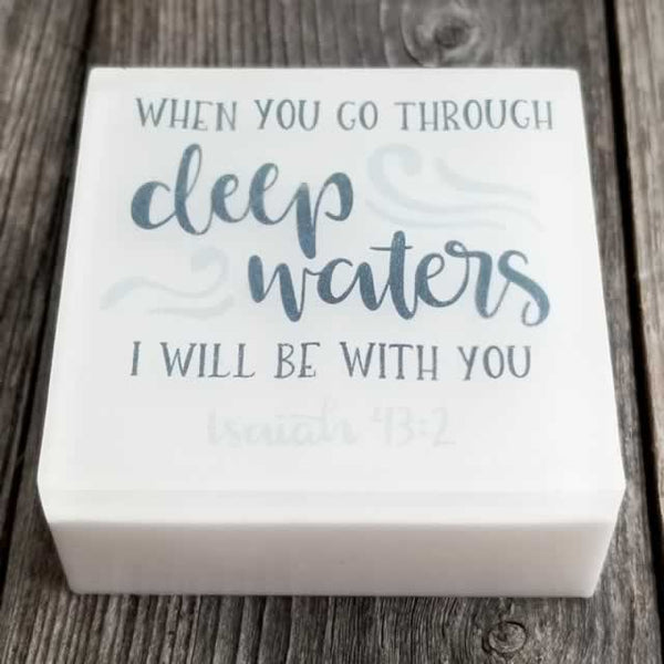 Wholesale Scripture Soaps - When You Go Through Deep Waters