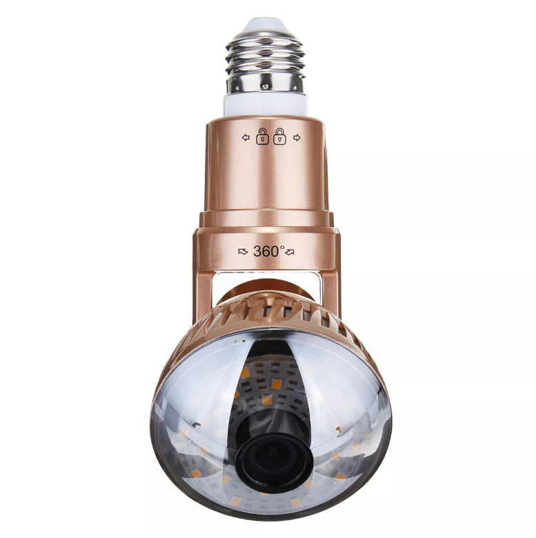 HOT!!! Light Bulb WIFI Security Camera-360 panorama WiFi fish-eye spy
