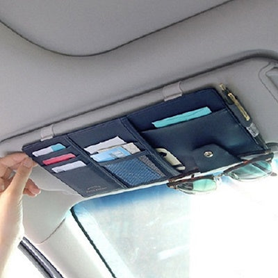 Front gear sunshade card holder car CD driving document bill storage glasses holder