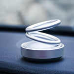 Car UFO Aromatherapy Suspension Double Ring Rotating Aromatherapy Decoration