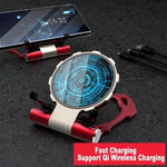 (FREE SHIPPING!!)Qi 10W Fast Wireless Charging iron Man Stand & Pad