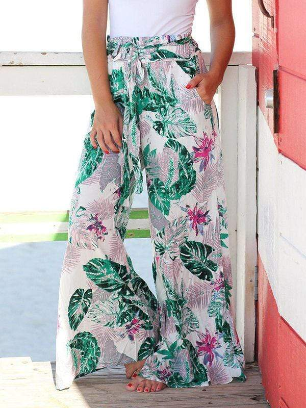 Floral Printed Wide Leg Pants