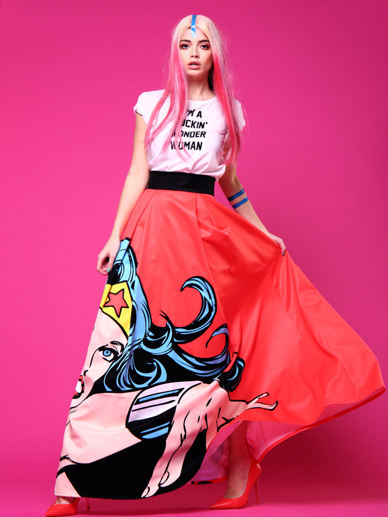 Printing Long Over Skirt
