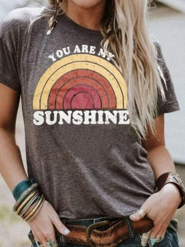 You Are My Sunshine Rainbow Tee