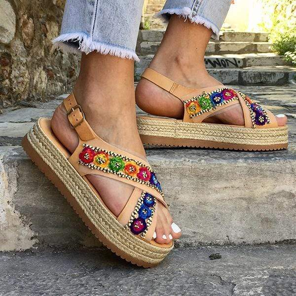 Open Toe Flat Flexible Sandals