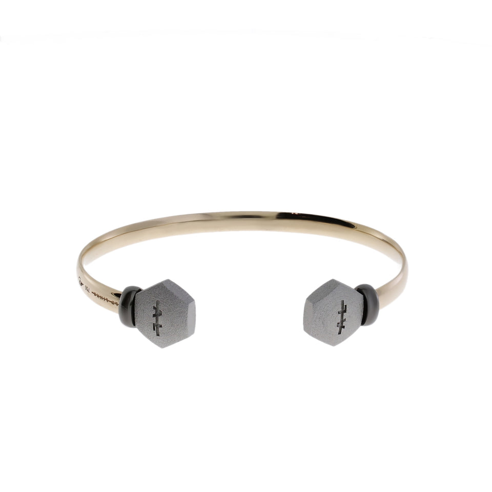Gold Bangle Hexagon HU Endlinks