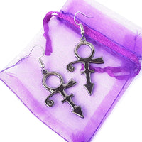 Symbol Black Earrings