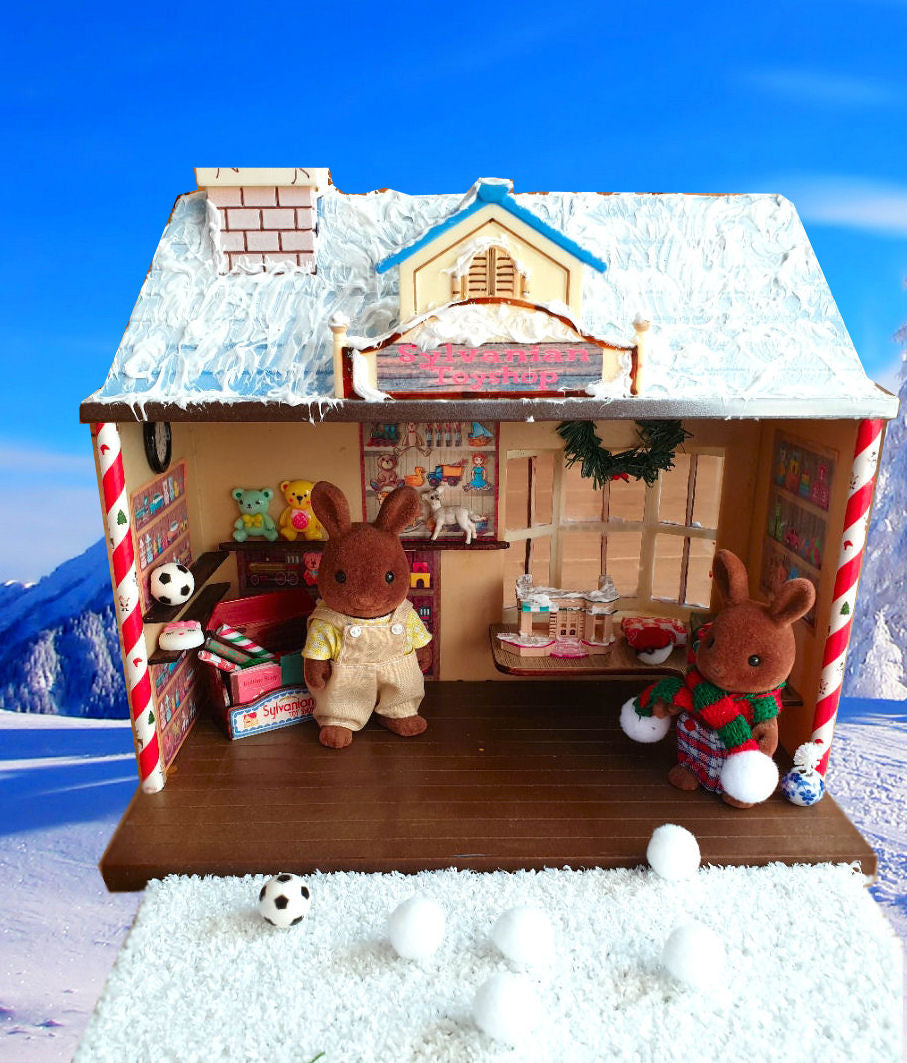 Sylvanian Families Winter Toy Shop,House,Figures,Furniture,Toys,Christmas