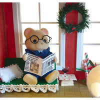 "alt=""sylvanian families dad bear relaxing"""