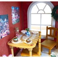 "alt=""sylvanian families christmas dinner table"""