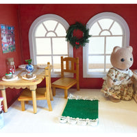 Sylvanian Families Winter Townhouse,Christmas House with Furniture & Figures