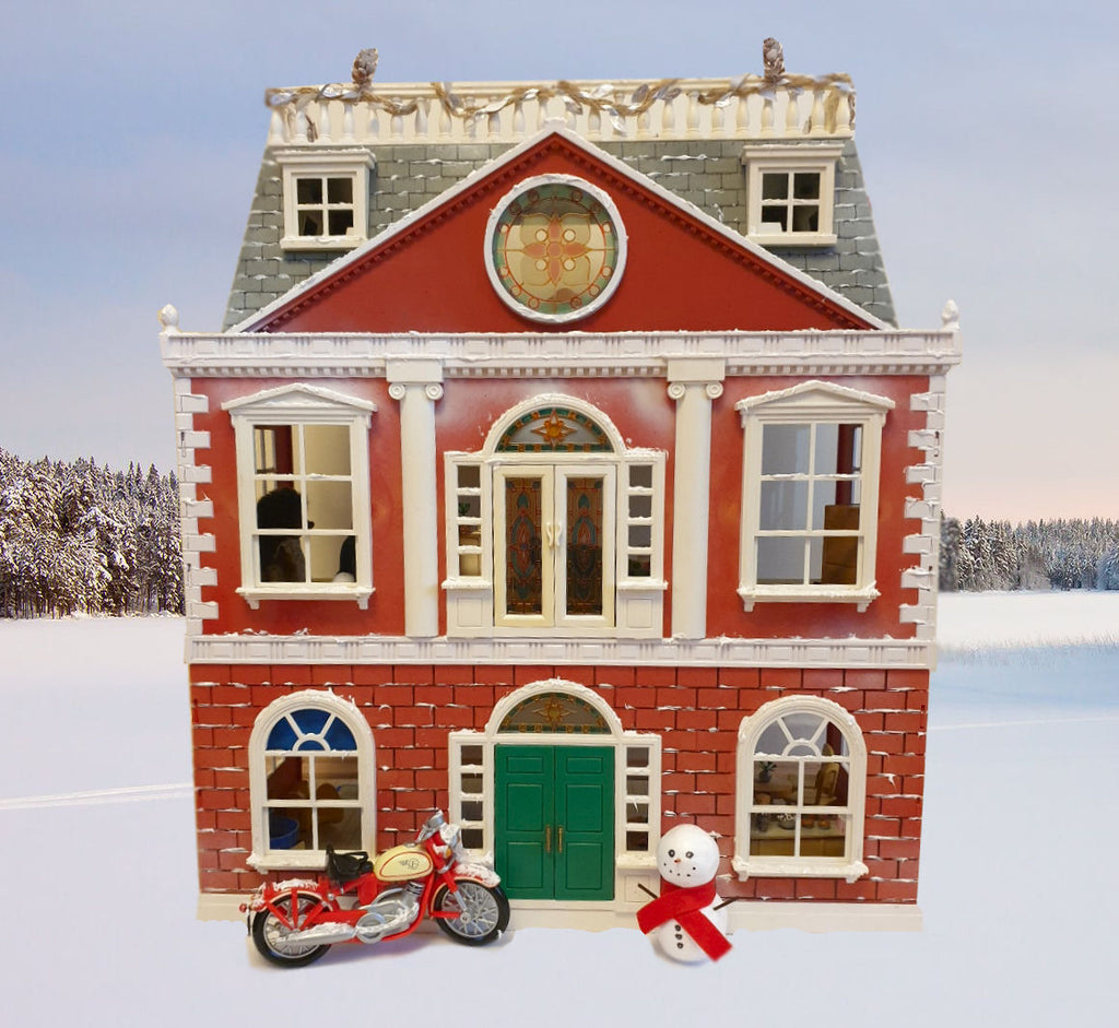 Sylvanian Families Winter house,Christmas House with Furniture & Figures