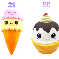 jumbo ice cream squishy, jumbo slow rising cake squishies