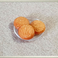 Miniature Dollhouse Food,Tiny Biscuits, Doll House Miniatures, Cookies
