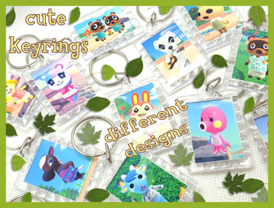 Animal Crossing Keyrings-Gaming Keychain