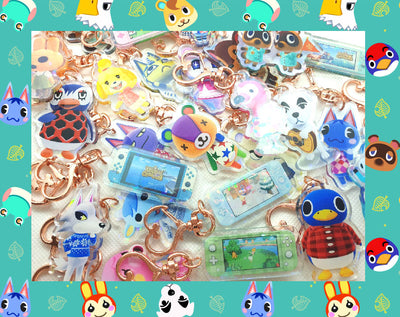 Animal Crossing New Horizons Keyring, Keychain