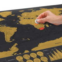 World Map Scratch Off Poster