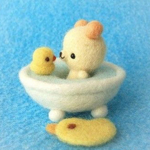 Needle Felting Kit - Baby Bears Bathtime