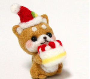 Needle Felting Kit - Birthday Shiba Inu