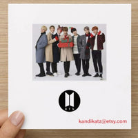 Kpop Christmas Card - Greeting cards
