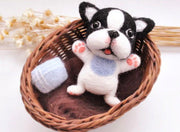Needle Felting Kit - French Bulldog