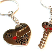 I Love You Couples Keyrings-Keychain