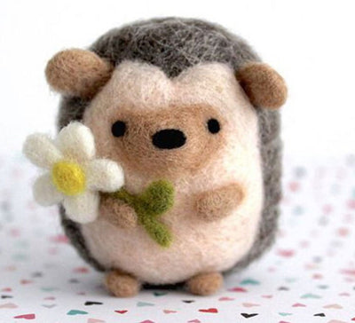 Needle Felting Kit - Springtime Hedgehog