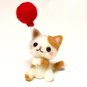 Needle Felting Kit - Kitten with Balloon