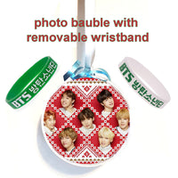 bts bt21 christmas bauble decoration with included bts wristband