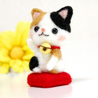 Needle Felting Kit - Chinese Lucky Cat