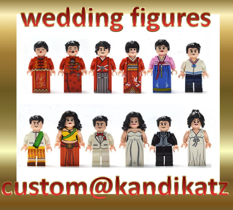 Wedding Brick Minifigures