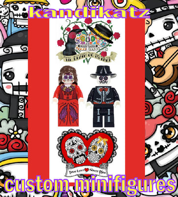 Day of the Dead Minifigures-Dia de los meurtos