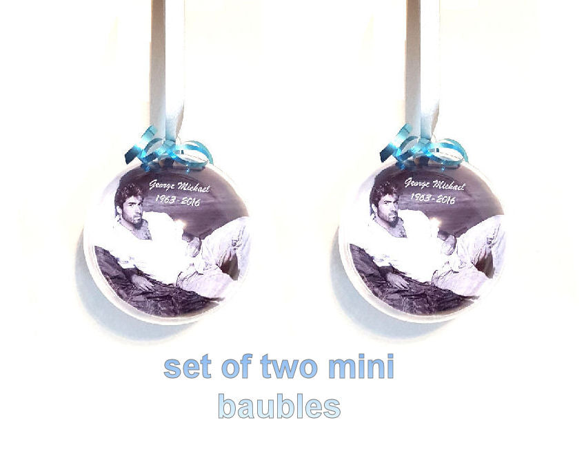George Baubles-Christmas Decorations-Set of Two