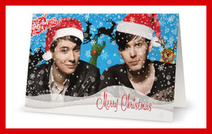 Dan and Phil Christmas Card - Greeting cards