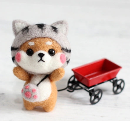 Needle Felting Kit - Shiba Inu Kitten