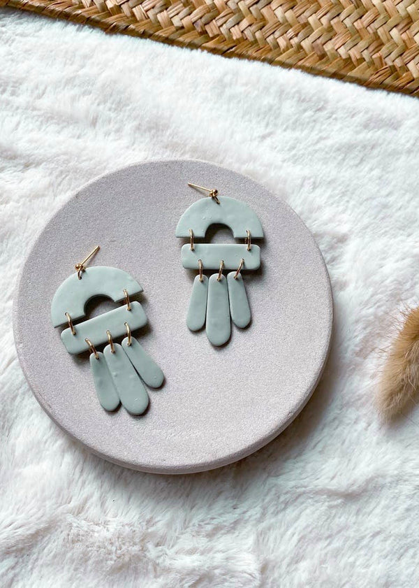 Lara Earrings- Mint