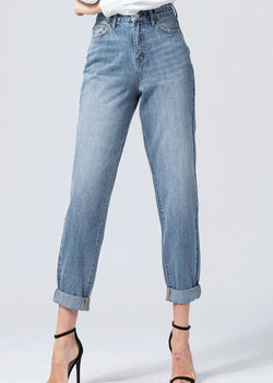 Cuffed Mom Jeans- Vervet By Flying Monkey