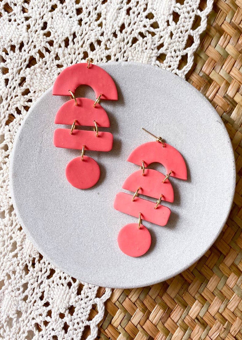 Margarita Earrings- Coral