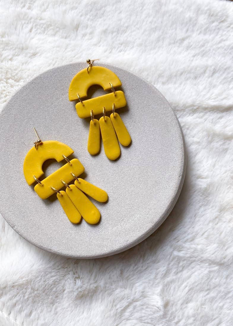Lucia Earrings- Mustard