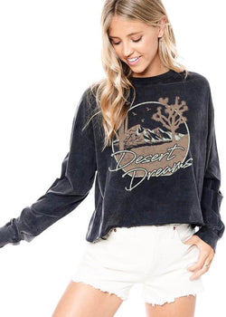 Desert Dreams Graphic Cropped Top
