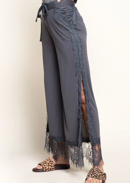 Lace It Down Knit Pants