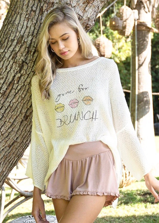 Game For Brunch Lightweight Sweater