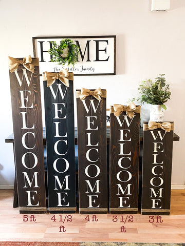 Farmhouse Welcome wood sign, front door sign, rustic front door sign, rustic welcome sign with burlap ribbon, front porch sign, wooden signs