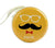 [Yellow] Set of 2 Lovely Tinplate Headphone Cable Organizer Coin Purse